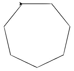 How to draw pentagon, hexagon and other polygons in Python